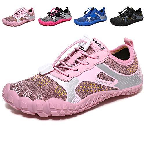 MARITONY Badeschuhe Kinder Schuhe Barfußschuhe Barfussschuhe Schwimmschuhe Wasserschuhe Aquaschuhe Strandschuhe Jungen Mädchen 1 Pink 32 EU