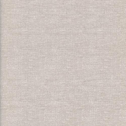 Textiles français Tissu de Coton imprimé uni Aspect Lin - Couleur Naturelle (Lin/Ficelle)   Largeur: 140 cm (par mètre linéaire)*