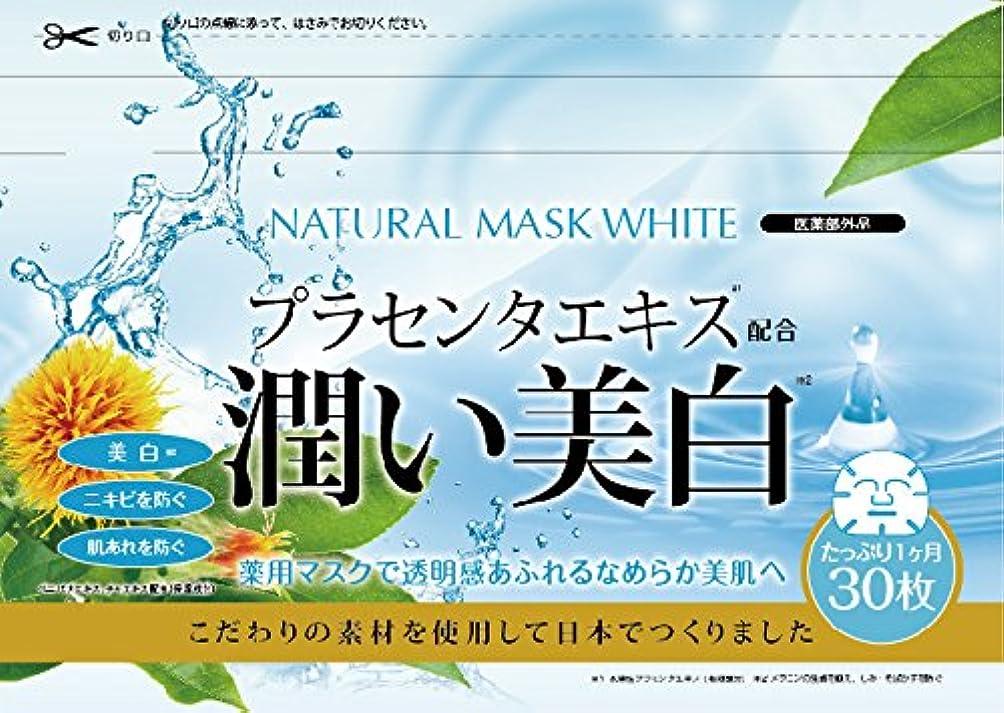 レタス期限スイス人ナチュラルマスク ホワイト 30枚入り (医薬部外品)