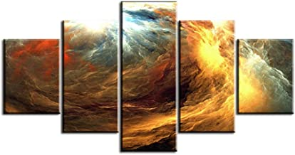 DYCHJD Five Pieces Set Waves Abstract Cloud No Frame Oil Painting Canvas Prints Wall Art Pictures For Living Room Decorations 20x35 20x45 20x55CM