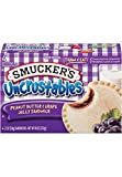 SMUCKERS UNCRUSTABLES FROZEN SANDWICHES PEANUT BUTTER & GRAPE JELLY 4 CT PACK OF 3
