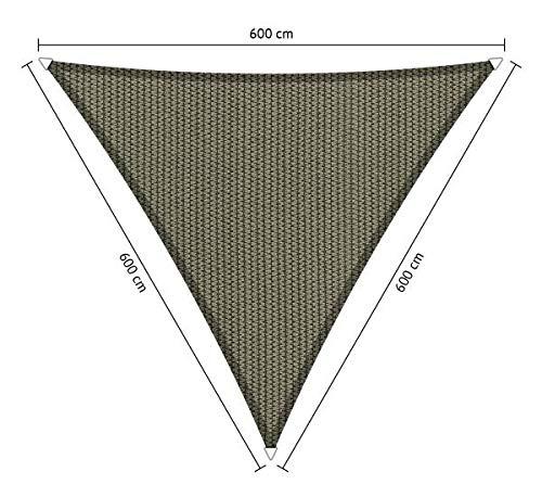 Shadow Comfort Tela de Sombra triángulo 6x6x6 Metro Desert marrón | 285 gr/m2