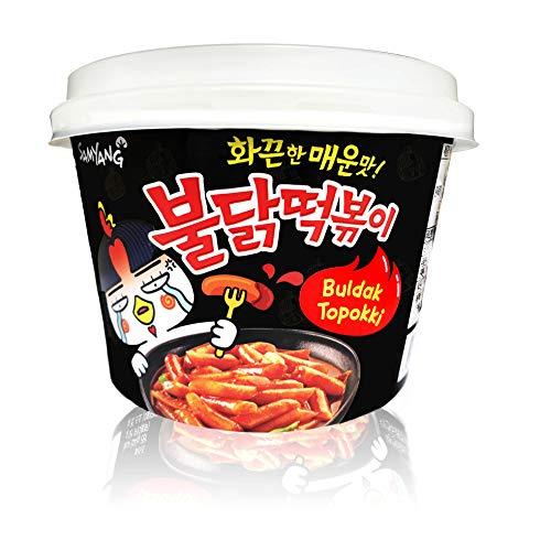 Buldak Tteokbokki Korean Rice Cake Instant Korean Snack Tteok Tteokbokki Rice Cake (spicy, 1)