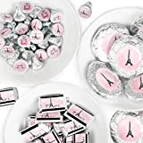 Paris, Ooh La La - Mini Candy Bar Wrappers, Round Candy Stickers and Circle Stickers - Paris Themed Baby Shower or Birthday Party Candy Favor Sticker Kit - 304 Pieces