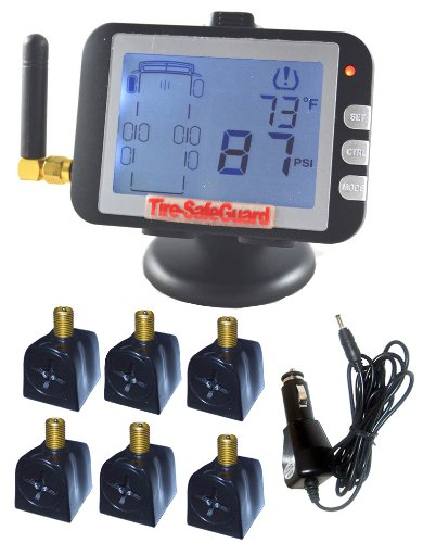 RV 6-Tire Flow-Through Sensor Tire Pressure Monitoring System (TPMS)