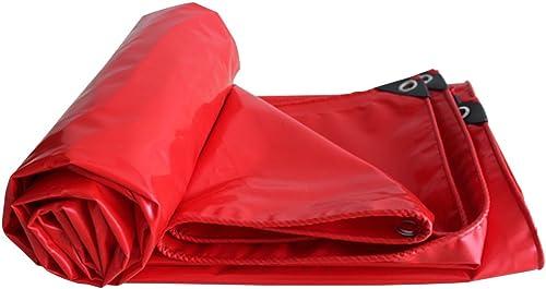 Zm La bache imperméable, la Feuille de bache résistante à l'usure, la Tente de Camping et d'autres Occasions appliquent la bache pour des camionnettes, Multi Tailles (Couleur   rouge, Taille   6m6m)