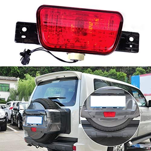 Rear Spare Tire Cover Tail Bumper Light Fog Lamp For Mitsubishi Pajero Shogun 2007-2009 2010 2011 2012 2013 2014 2015
