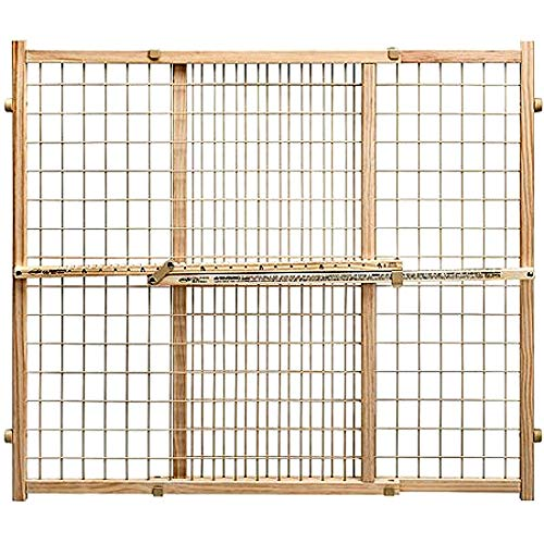 """Pressure Mount Pet Gate Tall & Lock 31""""- 50"""" Hardwood Frame with Sturdy Vinyl-Coated Wire Mesh Panel - Skroutz Deals"""