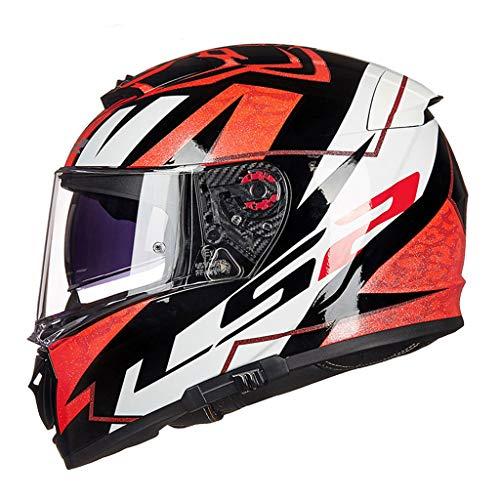 Casque moto hommes et femmes double casque casque racing casque anti-buée locomotive (Couleur : A-Xxl(59-60cm))