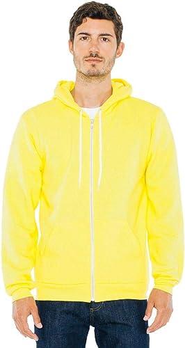 American Apparel - Sweat-Shirt à Capuche - à Capuche - Manches Longues - Opaque - Homme - Jaune - S