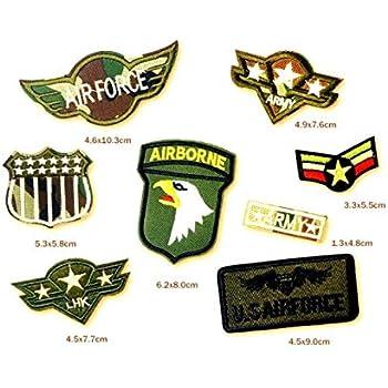 hotrodspirit – Lote de 8 Parches Militares estadounidenses con ...
