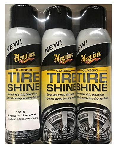 New Meguiars Classic Tire Shine 3 Cans 15 oz Each