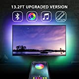 13.2Ft TV Backlights USB Light Strip Kit for 55'-70' TV, Mirror, PC, APP Control Sync to Music, Bias Lighting, 5050 RGB Waterproof IP65 USB LED Strip Lights Compatible with Android iOS