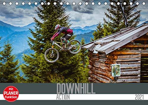 Downhill Action (Tischkalender 2021 DIN A5 quer)