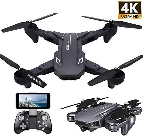Teeggi VISUO XS816 FPV Drohne mit Kamera 4K HD WiFi Live Übertragung Faltbare RC Quadrocopter für Kinder Anfänger 120°Weitwinkel /KopflosModus/Höhe Halten/3D Flips/Gravitationssensor/APP-Steuerung