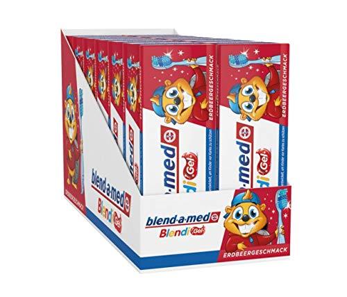 Blend-a-med Blendi Gel 12er Pack Kinder-Zahnpasta 50ml
