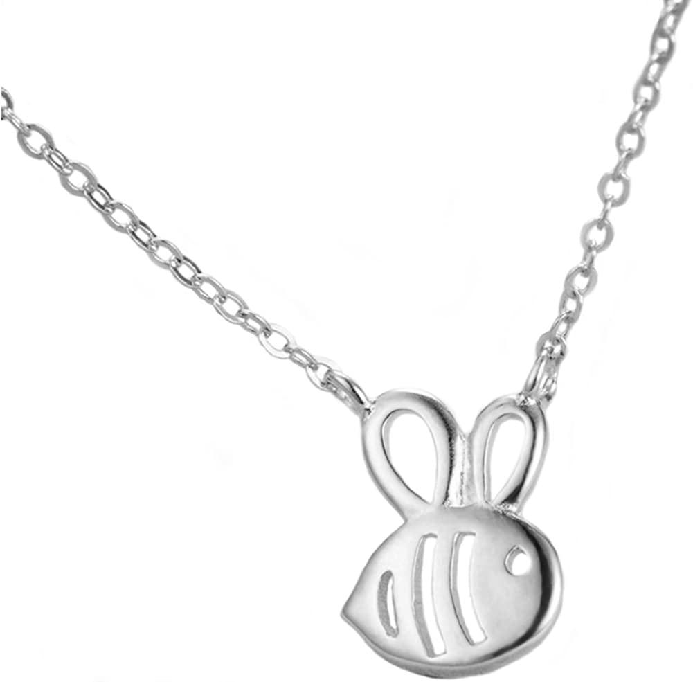 Helen de Lete Little Bee Sterling Max 63% OFF Silver Necklace-silver In a popularity Collar