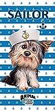 'Animal Club Perros Toalla 'Marinière–70x 140cm Toalla de playa