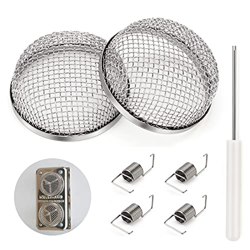Kohree RV Flying Insect Screen, Furnace Bug Screen Stainless For Vent Cover Camper Heater Vents with Installation Tool, 2 Pack 4 Spring Hooks