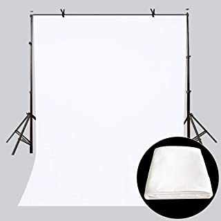 LYLYCTY 5x7ft Backdrop White Screen Key Soft Pure White Studio Background ID Photo Photography Backdrop Photo Backdrops Customized Studio Photography Backdrop Background Studio Props LY164