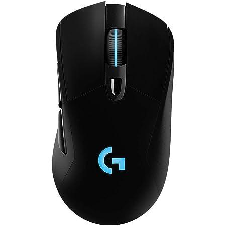 Logitech G703 Lightspeed Wireless Gaming Mouse W/Hero 25K Sensor, PowerPlay Compatible, Lightsync RGB, Lightweight 95G+10G Optional, 100-25, 600 DPI, Rubber Side Grips - Black