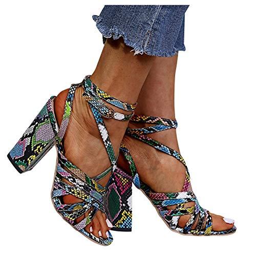 TOPEREUR Damen Tanzschuhe Blockabsatz Weicher Boden Schlüpfen Standard Latein Tango Salsa Dance Schuhe Elegante Sandalen für Party Hochzeit
