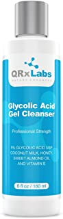 Glycolic Acid Cleanser - Exfoliating Face Wash, Best for Wrinkles, Lines, Acne, Spots & Chemical Peel Prep with Coconut Milk, Honey & Sweet Almond Oil - 1 bottle of 6 fl oz