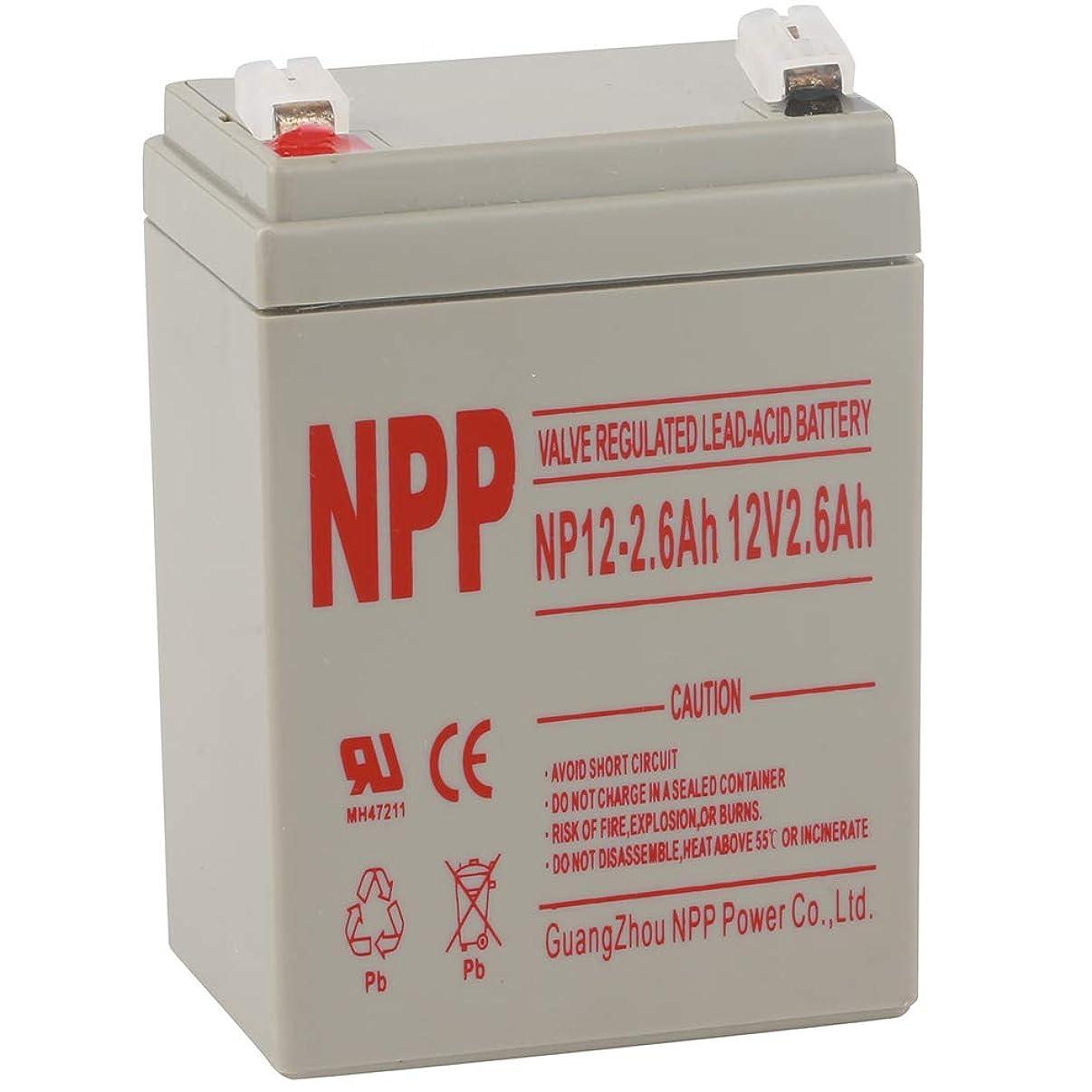 NPP NP12-2.6Ah 12V 2.6 Amp Audio UPS Emergency Lighting Battery