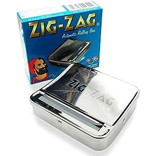 OCB 16925Zigzag Rolling Box for the Perfect Cigarette Rolling Machine, Chrome, Silver, 8x 8x 2cm