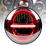 Atubeix 5.75' motorcycle LED Headlights High/Low beam Headlamp Projector Driving...