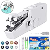 Mini Sewing Machine, Cordless Portable Electric Handheld Sewing Machine for Kids/Beginners to Quick Handy Stitch Clothes for Home or Travel Use