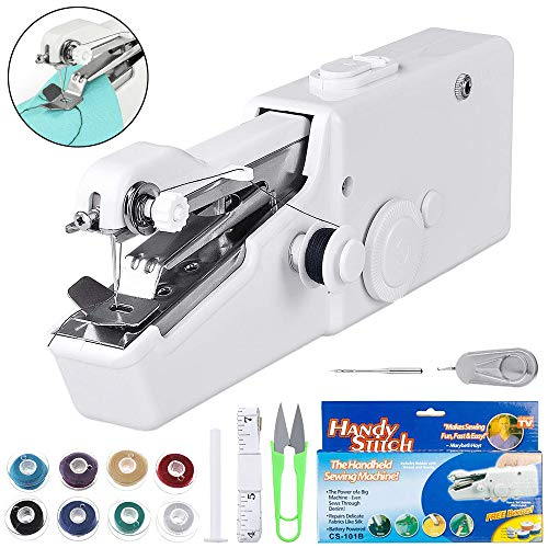 Mini Sewing Machine, Cordless Portable Electric Handheld Sewing Machine for Kids/Beginners to...