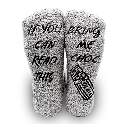 iZoeL If You Can Read This Bring Me Socks Funny Socks Non-slip Chocolate...