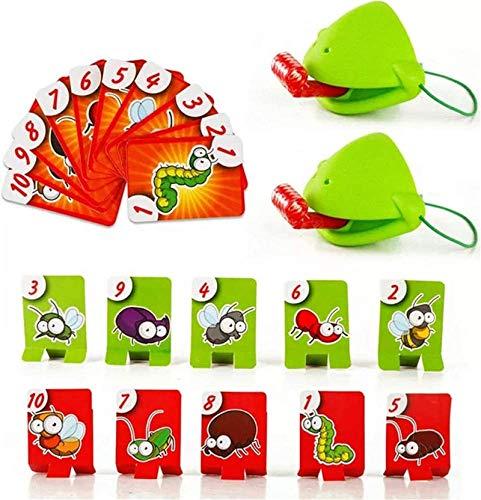 HHYSPA Tongue Catch Bugs Game, Lizard Tongue Eating Pest Juegos de Mesa, Joint Take Card-Eat Pest Card, Divertido Juego de Escritorio Familiar Juguetes interactivos 1 Set