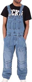 Oneforus Salopette da Uomo Denim Salopette da Uomo Salopette da Jeans