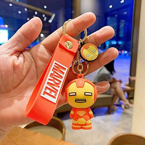 Neaer Key Chains Cartoon Iron Man Thor Hulk Captain America Car Key Chain Kids Bag Pendant Keyring Friends Gift Marvel Avengers Keychain Cartoon keychain (Color : 5)