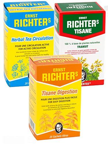 Richters Kit Tisanes Bien être - Richter's Transit + Richter's Digestion + Richter's Circulation