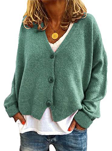 Mujer Suéteres Casuales De La Rebeca Sayo Sólido Manga Larga Frente Abierto Abrigo Outwear