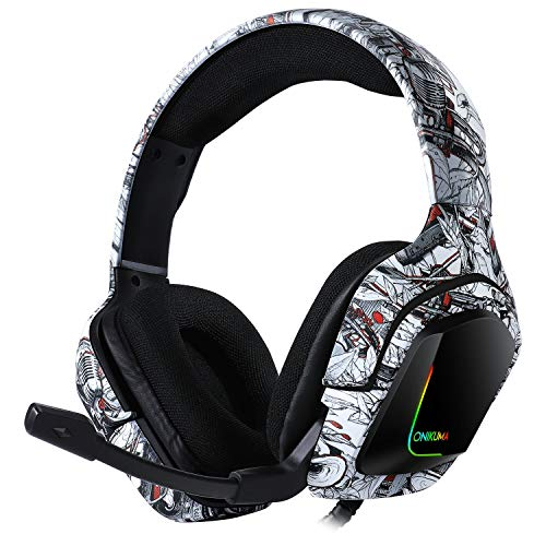 Gamer Headset for Computer PS4 PS5 ONIKUMA K20 Gaming Headphones Bass Stereo PC Wired Headset with Mic