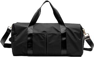 JJYHEHOT Sports Gym Bag, Dry Wet Separated Travel Duffle Bags, Waterproof Large Yoga Bag, Mens Womens Shoulder Tote Bag for Travel/Overnight Weekend (Black)