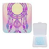 Yuzheng Caja De Almacenamiento De Mascarilla Portátil Amuleto Místico Mágico Atrapasueños Indio Plumas De Colores Clip De Almacenamiento Anticontaminación Para Máscaras 13cmx13cm