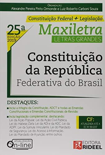 Constituição da República Federativa do Brasil. Maxiletra. Constituição Federal (+ Legislação)