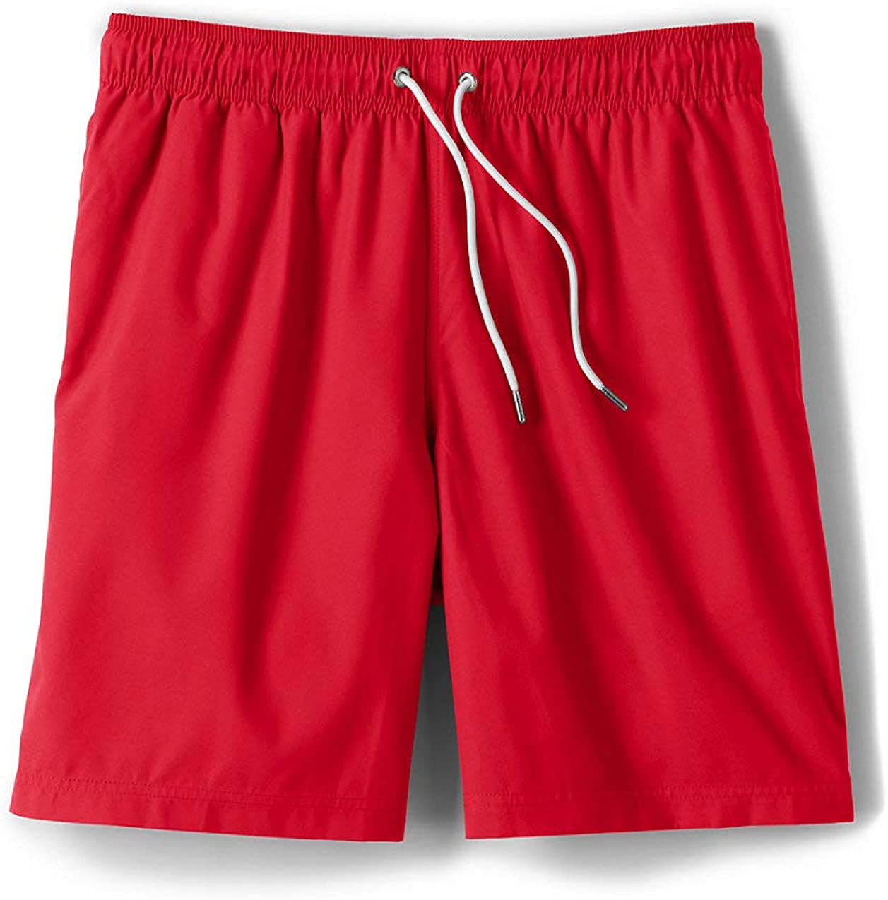 Lands' End Mens 8 Inch Volley Swim Trunk Compass Red Big and Tall 2XL