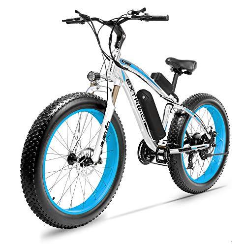 Cyrusher Fat Tire Bike Snow Bike Mountain Bike with Motor 500W/1000W 48V Lithium Battery Extrbici...