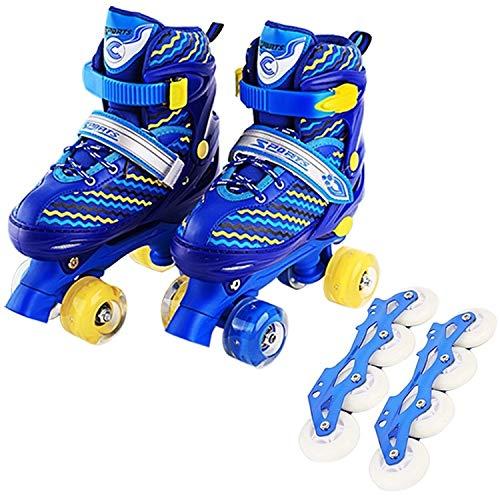 Why Choose Roller Skates DAKJWF Children Full-Flash White Double-Row Roller Skates Skating Shoes, St...