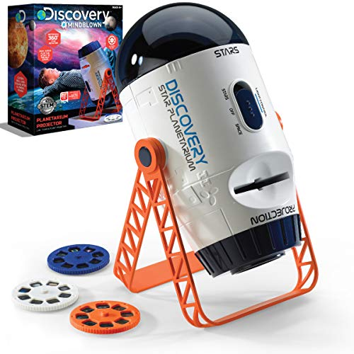 Discovery #MINDBLOWN 2-in-1 Reversible Planetarium Space Projector – 360-Degree Rotation – Moving Stars Mode and Stationary Viewfinder Mode