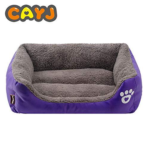 IFRIK zachte wasbare hond huisdier warm mand bed kussen bank -paars-XXL