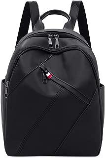 LPFMM Backpack Oxford Spun Foldable Schoolbag - Black, Gray Backpack (Color : Black)