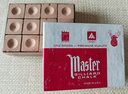 Master Billardkreide, GOLD Master Kreide, 12 Würfel