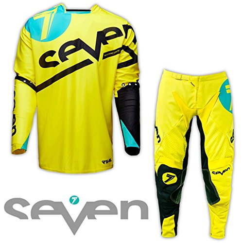 Seven MX 2016 Rival Zone Yellow Jersey/Pant Combo - Size X-LARGE/36W